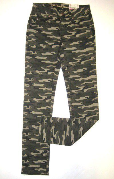 NWT Girls ARIZONA Green Camo Skinny JEANS Stretch Pants 10 12 14 Slim