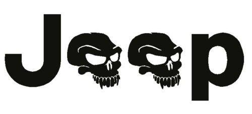 JEEP SKULL OEM logo Wrangler side Decal Vinyl Sticker