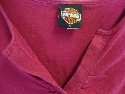 HARLEY DAVIDSON Womens Long Sleeve Shirt DANVILLE ILLINOIS size LARGE