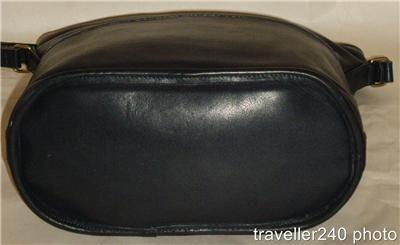 COACH Midnight NAVY BLUE Leather Bucket Shoulder Bag Crossbody Purse