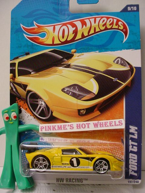 2010/2011 Hot Wheels FORD GT LM #157 US ★Kmart YELLOW★