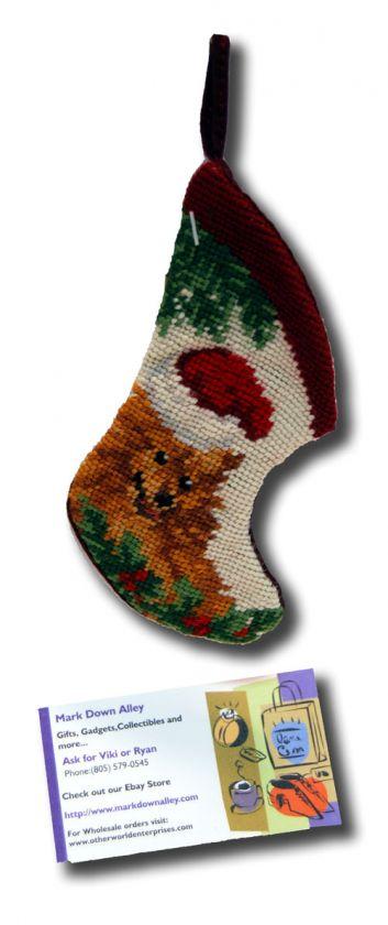 stocking needle point christmas xmas seasonal puppy lovers sk 807xs