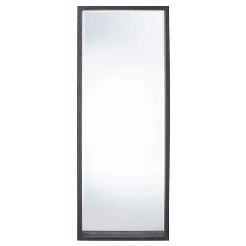 Black/Black Leather Full Length Floor Mirror and Easel