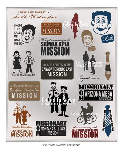 Stick Figure Family Sticker Car Decal Vinyl Missionary